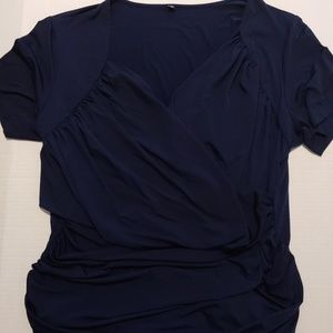 Tops - Ruched Wrap Blouse NWOT